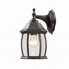 filament design remington 1 light rubbed bronze outdoor wall lantern sconce with clear