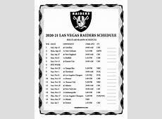 2020 vegas raiders schedule