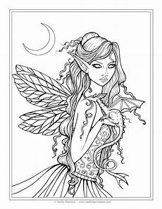 dragons and fairies coloring pages 16591 free and coloring page by molly harrison quot amethyst quot molly