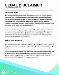 free legal disclaimer templates exles download now termly