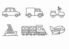 Malvorlagen Kinder Fahrzeuge Kostenlose Malvorlage Transportmittel Verschiedenen