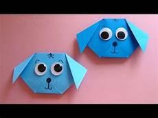 Tiere Basteln Aus Papier - origami hund falten mit papier einfachen hund basteln