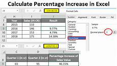 calculate percentage increase in excel exles how to