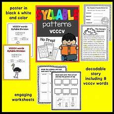 syllable patterns vcccv worksheets and decodable story by smartyplans
