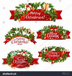 merry christmas wish icons ribbons stock vector 742209355