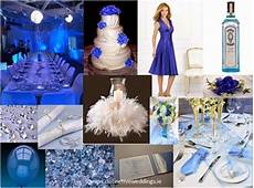 royal blue silver white wedding decorations http
