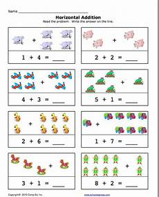 addition worksheets pre k 9010 school express horizontal addition education world