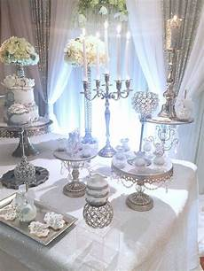 love this silver and white anniversary party see more party ideas at catchmyparty com