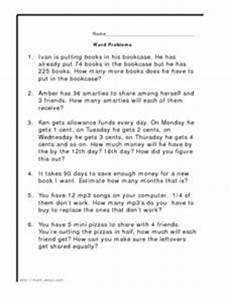 worksheets addition subtraction multiplication division 9999 word problems addition subtraction multiplication division 4th grade worksheet lesson planet