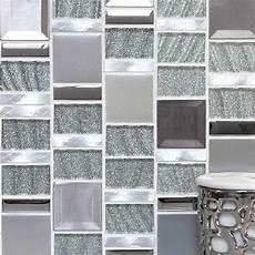 Kitchen Backsplash Tile Mesh by Silver Metal Kitchen Backsplash Tiles Mosaic Tile Deco