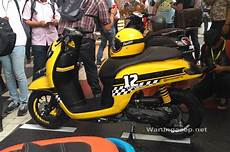 Variasi Motor Scoopy 2018 by Striping Scoopy Sporty 2017 Kuning Daftar Update Harga