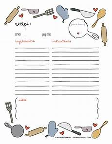 Recipe Card Book Template by Of Giving Free Printable Recipe Page Template