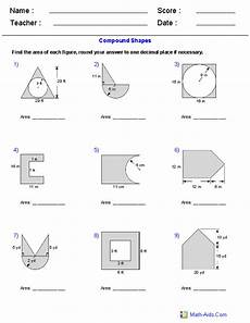 geometry solid volume worksheets 929 area of compound shapes adding and subtracting regions worksheets geometry worksheets area