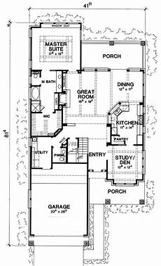 lake house floor plans narrow lot plan 31137d rustic craftsman cottage narrow lot house