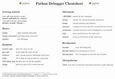 python debugger cheatsheet nblock