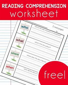 worksheets reading comprehension 18439 free reading comprehension worksheet free homeschool deals