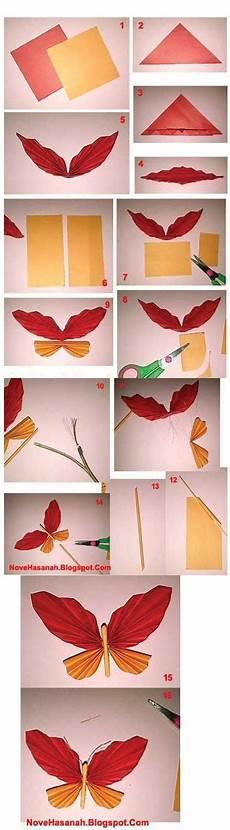 Cara Membuat Kupu Kupu Dari Kertas Origami Untuk Hiasan