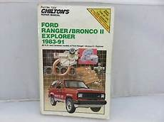 service and repair manuals 1986 ford bronco ii electronic throttle control chilton 7338 ford ranger bronco ii explorer 1983 1991 service repair manual ebay
