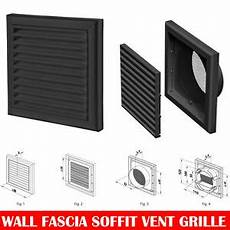 Kitchen Extractor Fan No External Wall by Black Extractor Fan Wall Fixed Louvre Grill Grille