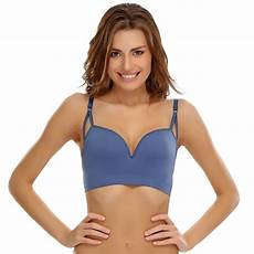buy seamless push up sports bra in midnight blue