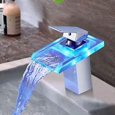 Waschtischarmatur Mit Led Beleuchtung - bonade led wasserhahn bad waschbecken mit rgb 3