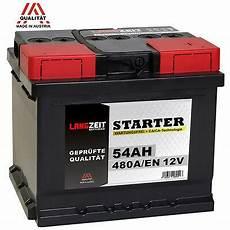 autobatterie 12v 54ah 480a en ersetzt 44ah 45ah 50ah 52ah
