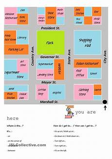giving directions worksheets islcollective 11706 giving directions esl worksheets printable worksheets and teaching ideas