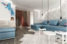 wohnzimmer modern braun blue brown white modern living room interior design ideas