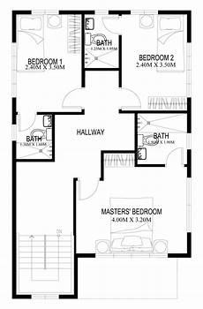two story house plans series php 2014004 pinoy plan of home plougonver com