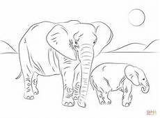 elephant coloring page getcoloringpages