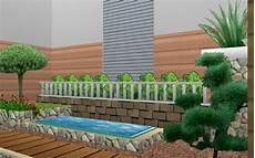 Desain Eksterior Taman Minimalis Bagi In