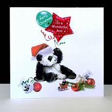 panda merry christmas son handmade card decorque cards