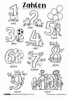 ausmalbilder mit zahlen zahlen arbeitsbl 228 tter vorschule kinder lernen kalender