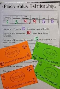 place value relationships 4th grade worksheets 5526 using money to understand place value place values teaching place values math place value
