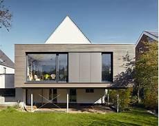 Anbau Holz Modern Stahltr 228 Ger Holzverkleidung Fenster