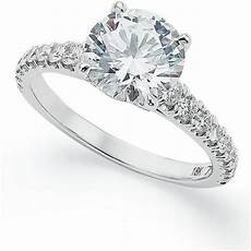 x3 certified diamond pave solitaire engagement ring in 18k