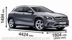 dimensions mercedes gla mercedes gla 2017 dimensions boot space and interior