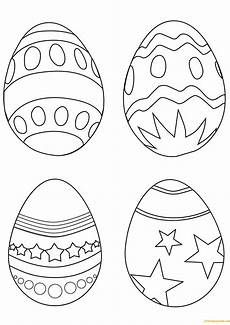 simple easter eggs coloring page free coloring pages