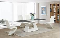 Esstisch Hochglanz Grau - white high gloss grey glass extending dining table and 6