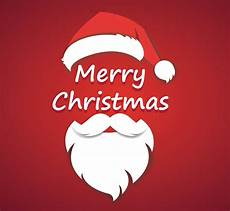 merry christmas vector concept with christmas hat and santa white beard download free