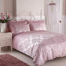 Pink And White Duvet Covers by Faux Silk Jacquard Duvet Cover Pink Ebay