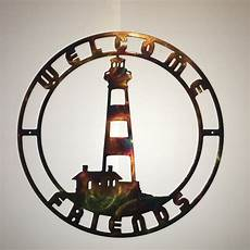 lighthouse outdoor wall art bodie island nc lighthouse indoor or outdoor plasma cut metal