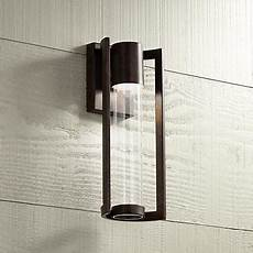 maxfield silver 15 high led outdoor wall light maxfield bronze 15 quot high led outdoor wall light 5x281 lsplus com