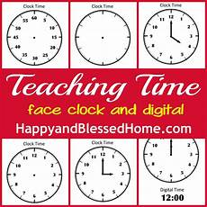 tell time preschool learning happy and blessed home