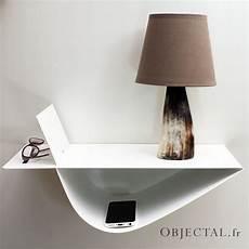 Chevet Suspendu Design Table De Nuit Murale Blanche Moderne