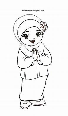 Gambar Kartun Anak Muslim Untuk Diwarnai Komicbox