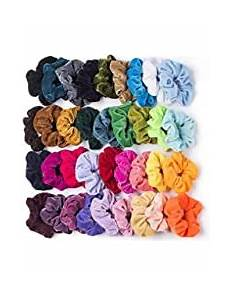 Amazon 50 Pcs Premium Velvet Hair Scrunchies 8 Amazon Com Personal Care