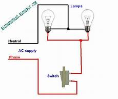 how to control 2 ls bulbs by one way switch parallel circuit english video tutorial