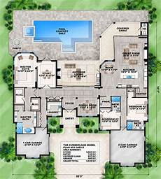 mediterranean house plans with pool house plan 207 00020 coastal plan 3 662 square feet 3