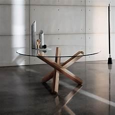 table ronde en verre table en verre design ronde aikido sovet 174 4 pieds